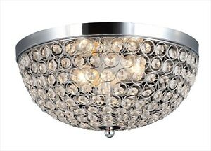 NEW in Boxes – 2 Elipse Crystal Flush Mount Lights