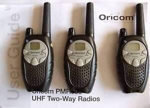3 X UHF 40 channel Oricom Handheld Two Way Radios Bracken Ridge Brisbane North East Preview