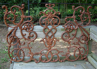 NEW Large Pontalba Panel Cast Iron Garden Railing Gate Decor Wrought - Yard Art