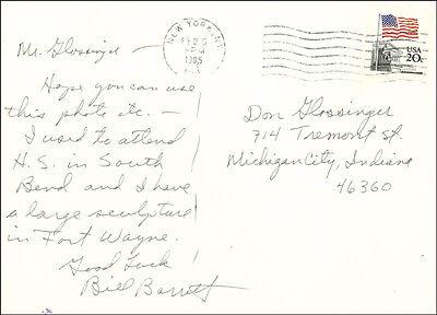 Bill Barrett   Autograph Letter Double Signed