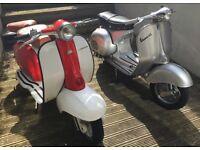 Vespa GS 150 and lambretta LI SERIES 2