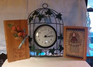 Clock and two Pictures