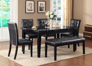BEAUTIFUL SOLID WOOD DINNING TABLE WITH  4 CHAIRS ON SALE_$699