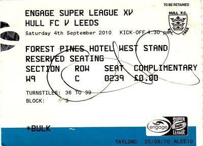 Ticket - Hull FC v Leeds 04.09.2010