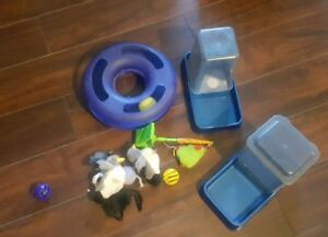 Cat Toys and Water/food dispensers