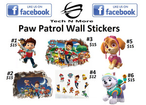 Paw Patrol Big & Small Wall Stickers(6 Options)