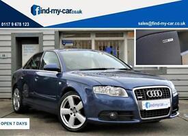 2007 07 Audi A4 2.0 TDI 170 S Line Saloon Mauritius Blue