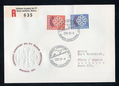 SCHWEIZ Nr.681-682 SCHMUCK-R-FDC ESST REUNION 22.6.1959 !!! (125885)