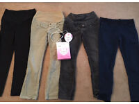 4 X Maternity Trousers size 14/16 and baby heart monitor