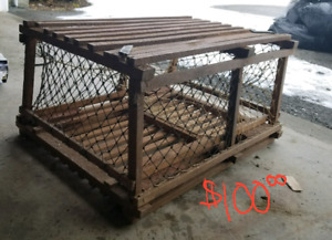 Antique Genuine Lobster Trap table