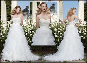 Casablanca Wedding Dress with Veil