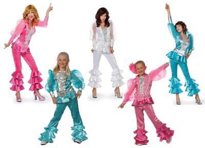 70er 80er Jahre Kostüm Kinder Anzug Disco Party Damen Schlagerstar Dancing - 80er Jahre Kostüm Kind
