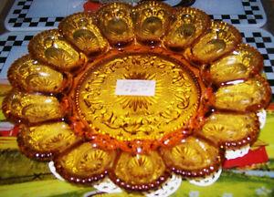 Vintage Glass Egg Plates Stratford Kitchener Area image 1