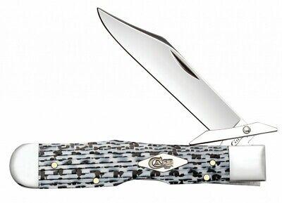 Case xx Cheetah Knife Black & White Carbon Fiber Stainless Pocket Knives 38922