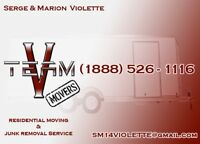 VTEAM Residential moving and junk removal service