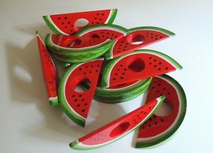 10 Watermelon Napkin Rings (wood)