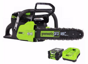 "*NEW* GREENWORKS CHAINSAW (80V) 18"" - ELECTRIC"