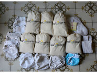 Cloth 'Real Nappies' bundle for newborn and infant