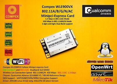 Compex WLE900VX Atheros QCA9880 Minipci express 802.11AC 1300Mbps 3x3 Dualband