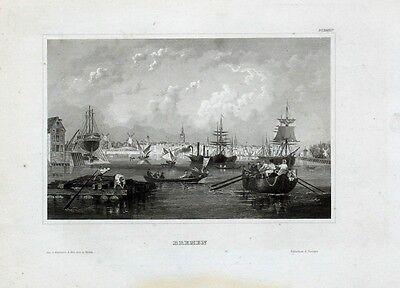 Bremen Bremerhaven Navy Marine Segelschiff Kogge Werft Dock Reede Dampfschiff