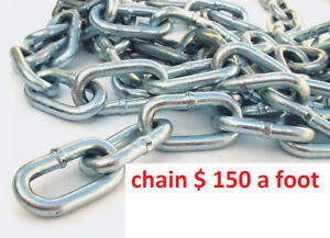 chains    $ 1,50  a foot  /