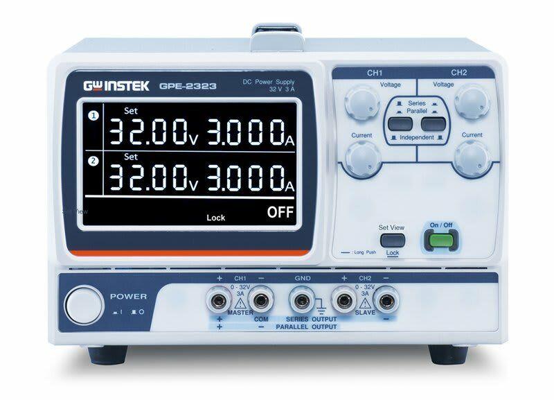 Instek GPE-2323 2 Channels, 192W Linear DC Power Supply