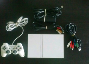 White PS2 Slim Console