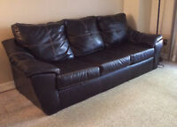 URGENT - Black Couch 1yr Old-  $200