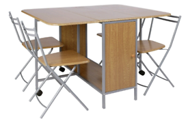 Brand new compact folding dining table and chairs