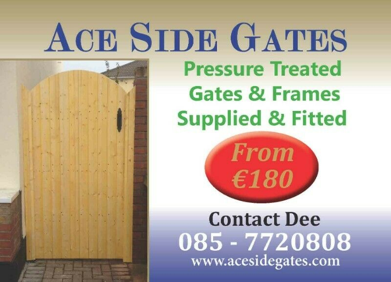 Supplied & Fitted Wooden Side Gates / Garden Gates - Pressure Treated
