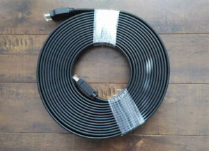 25-Feet HDMI Flat Cable High Speed with Ethernet CL2 Rated