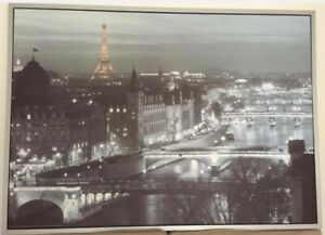 Moving Sale: Ikea large Paris picture in silver frame 55x40 inch