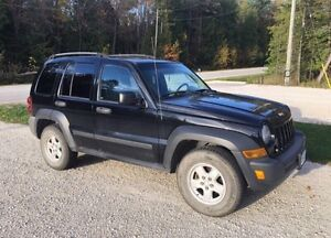 2006 Black Jeep Liberty Sport