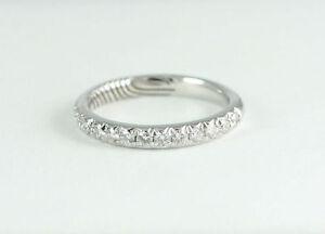 14k White Gold Diamond Band (NEW 17 diamonds, 0.39 tdw) #2880