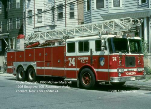 Yonkers NY L74 1995 Seagrave 100