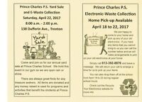 Yard Sale and E-Waste Collection, Prince Charles School, Trenton