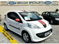 2007 57 PEUGEOT 107 1.0 SPORT RC 68 BHP * WHITE * PERFECT FIRST CAR *