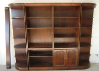 CHERRY WOOD ENTERTAINMENT / SHELVING UNITS