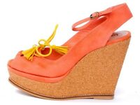 Cheryl Cole Designer Pink Wedge Sandals 7/40 100% leather