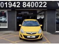 2012 12 VAUXHALL CORSA 1.4 SE 5D 98 BHP AUTO HATCH, 49-000M FSH, YELLOW,