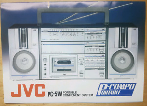 JVC PC 5 PC-5W Boombox Portable Component System Brochure POSTER