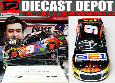 Autographed Chase Elliott 2018 Sun Energy 1 24 Action Collector Series 1 Of 48