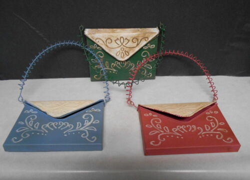 3 Letter or Recipe Pouch Youngstown Metal Works Wall Hanging Home Decor