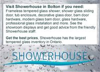 Frameless tempered glass shower doors and more