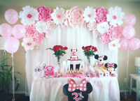Event Backdrop Rental - Paper Flowers