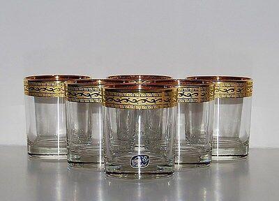6 Vasos de Whiskey,Bohemia Cristalino,Pintado a Mano en Dorado, Fabricante