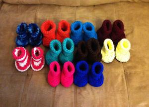 Homemade Crochet Baby Booties and Headbands