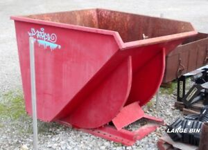 Used Self-Dumping Steel Dump Bin