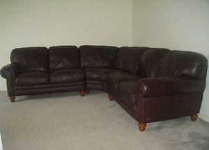 """""""Natuzzi Edition""""Classic 100% Leather Sectional, Paid Over $7300"""