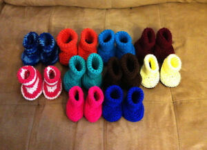 Homemade Crochet Baby Booties and Headbands - Soft Yarn Only